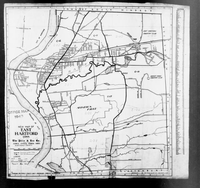 1940 Census Enumeration District Maps - Connecticut - Hartford County - East Hartford - ED 2-44 - ED 2-59
