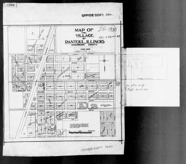 1940 Census Enumeration District Maps - Illinois - Champaign County - Rantoul - ED 10-47, ED 10-59