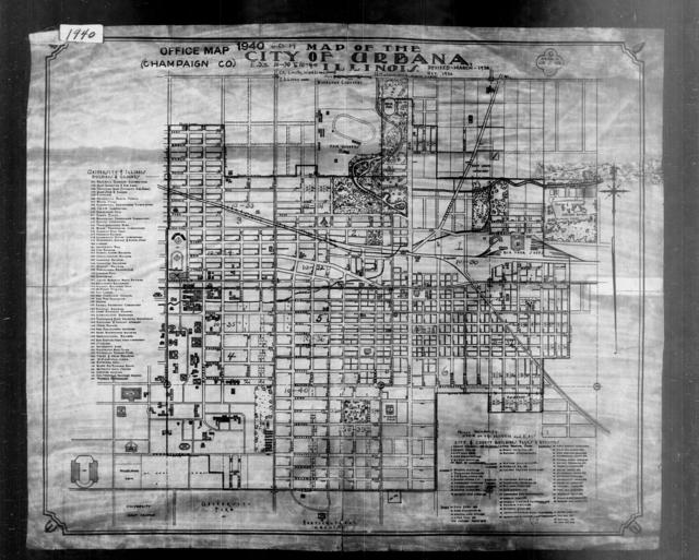 1940 Census Enumeration District Maps - Illinois - Champaign County - Urbana - ED 10-30 - ED 10-40