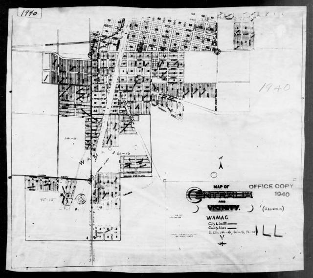 1940 Census Enumeration District Maps - Illinois - Clinton County - Centralia - ED 14-4, ED 14-5