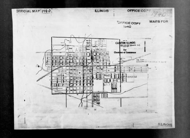 1940 Census Enumeration District Maps - Illinois - DeWitt County - Clinton - ED 20-2, ED 20-3, ED 20-4, ED 20-5, ED 20-6, ED 20-7