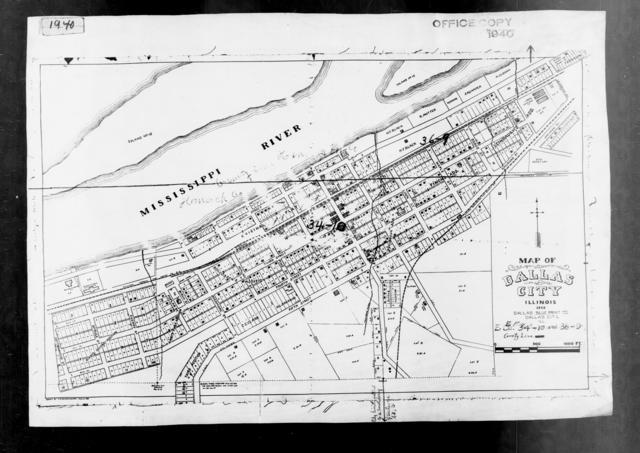 1940 Census Enumeration District Maps - Illinois - Hancock County - Dallas City - ED 34-10