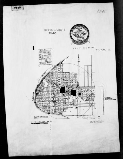 1940 Census Enumeration District Maps - Illinois - Hancock County - Nauvoo - ED 34-22, ED 34-37