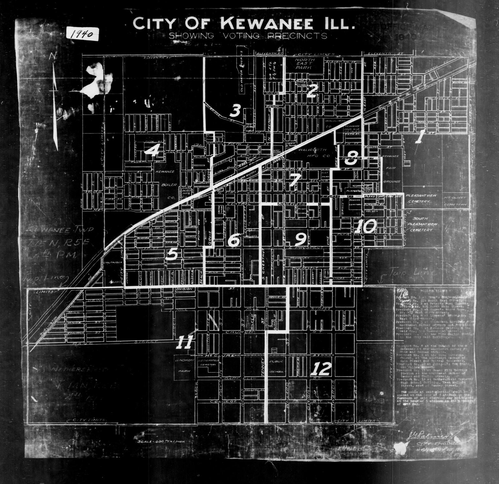 Kewanee Illinois Map.1940 Census Enumeration District Maps Illinois Henry County