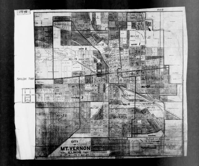 1940 Census Enumeration District Maps - Illinois - Jefferson County - Mt. Vernon - ED 41-17 - ED 41-27