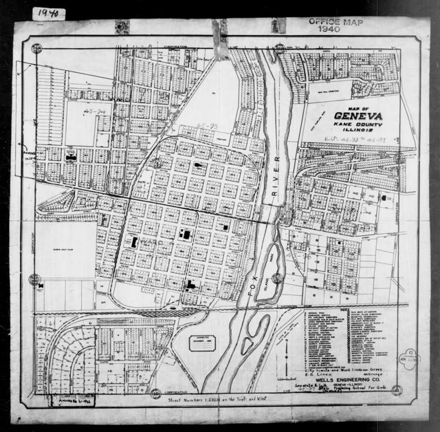 1940 Census Enumeration District Maps - Illinois - Kane County - Geneva - ED 45-93, ED 45-94, ED 45-95, ED 45-96, ED 45-97