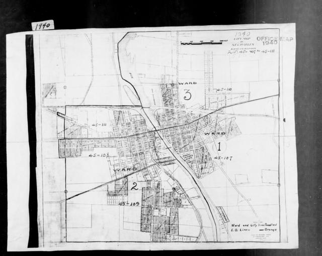 1940 Census Enumeration District Maps - Illinois - Kane County - St. Charles - ED 45-107, ED 45-108, ED 45-109, ED 45-110, ED 45-111