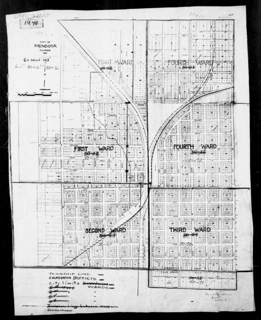 1940 Census Enumeration District Maps - Illinois - LaSalle County - Mendota - ED 50-68, ED 50-69, ED 50-70, ED 50-71, ED 50-72