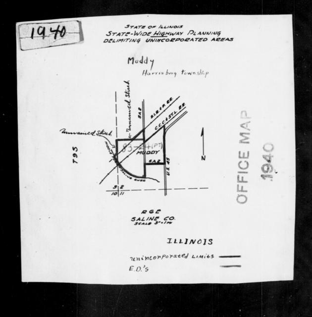 1940 Census Enumeration District Maps - Illinois - Saline County - Muddy - ED 83-24