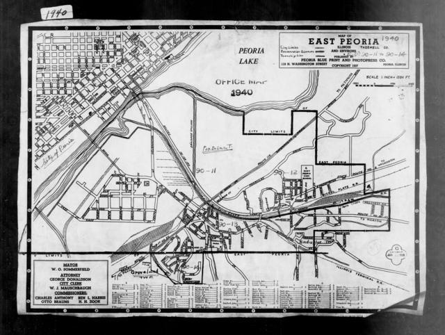 1940 Census Enumeration District Maps - Illinois - Tazewell County - East Peoria - ED 90-11, ED 90-12, ED 90-13A, ED 90-13B, ED 90-14