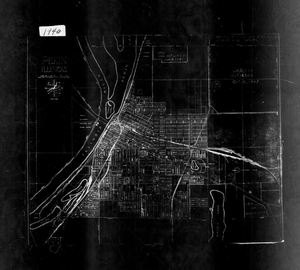 1940 Census Enumeration District Maps - Illinois - Tazewell County - Pekin - ED 90-31 - ED 90-45