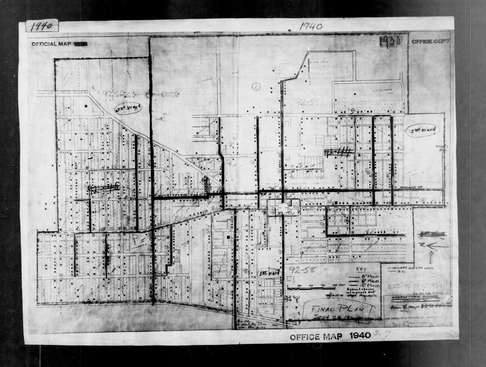 1940 Census Enumeration District Maps - Illinois - Vermilion County - Georgetown - ED 92-58, ED 92-59A, ED 92-59B, ED 92-60