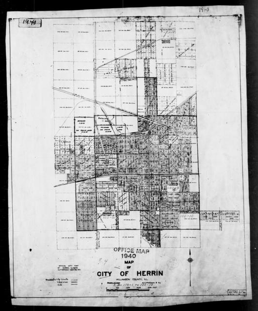 1940 Census Enumeration District Maps - Illinois - Williamson County - Herrin - ED 100-1 - ED 100-10