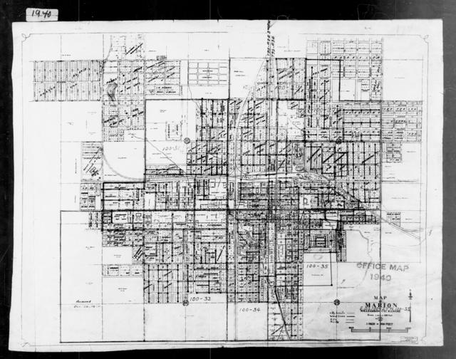 1940 Census Enumeration District Maps - Illinois - Williamson County - Marion - ED 100-27 - ED 100-35