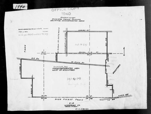 1940 Census Enumeration District Maps - Illinois - Winnebago County - West Rockford - ED 101-80
