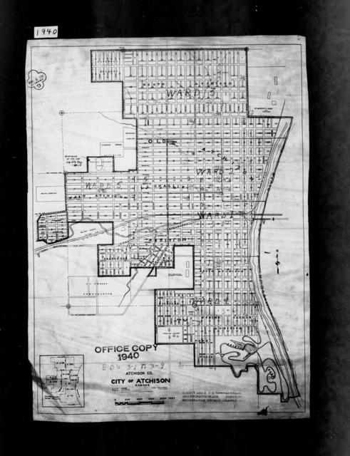 1940 Census Enumeration District Maps - Kansas - Atchison County - Atchison - ED 3-1A - ED 3-9B