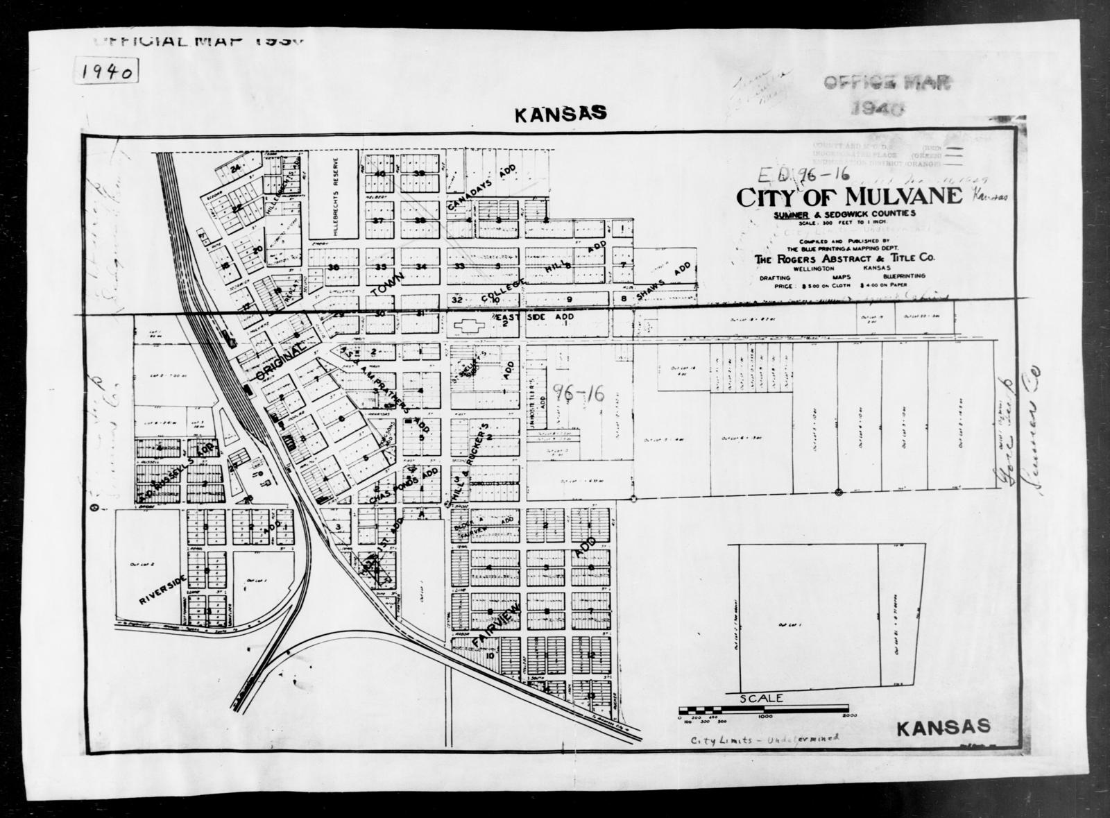 Sumner County Kansas Map.1940 Census Enumeration District Maps Kansas Sumner County