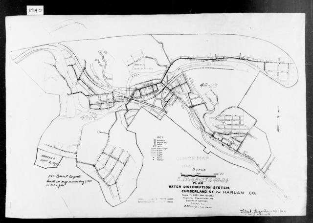 1940 Census Enumeration District Maps - Kentucky - Harlan County - Cumberland - ED 48-23, ED 48-24