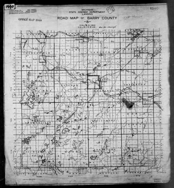 1940 Census Enumeration District Maps - Michigan - Barry County - ED 8-1 - ED 8-26