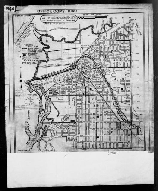 1940 Census Enumeration District Maps - Michigan - Berrien County - Benton Harbor - ED 11-10A - ED 11-24