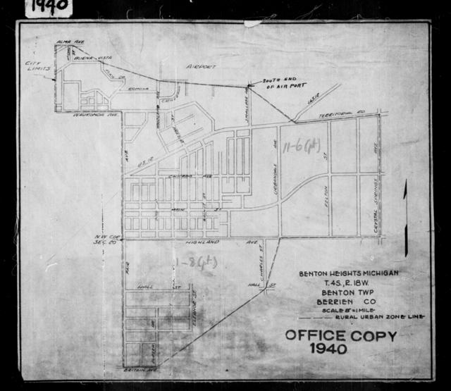 1940 Census Enumeration District Maps - Michigan - Berrien County - Benton Heights - ED 11-6A, ED 11-6B, ED 11-8A