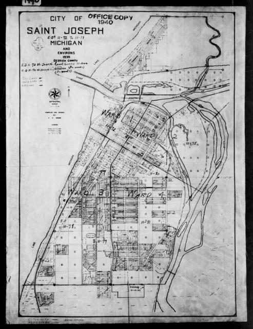 1940 Census Enumeration District Maps - Michigan - Berrien County - St. Joseph - ED 11-72 - ED 11-81