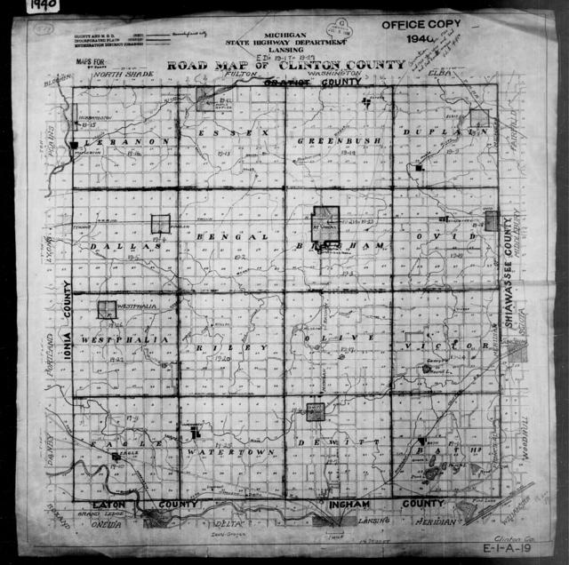 1940 Census Enumeration District Maps - Michigan - Clinton County - ED 19-1 - ED 19-27