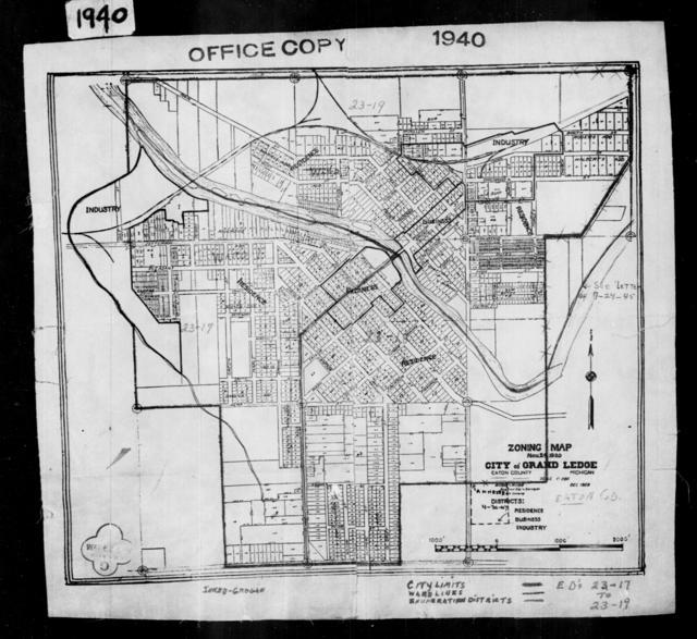 1940 Census Enumeration District Maps - Michigan - Eaton County - Grand Ledge - ED 23-17, ED 23-18, ED 23-19