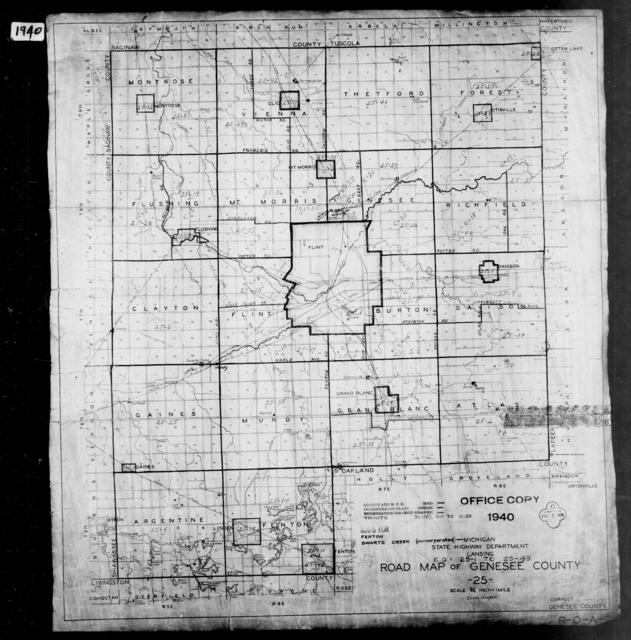 1940 Census Enumeration District Maps - Michigan - Genesee County - ED 25-1 - ED 85-170