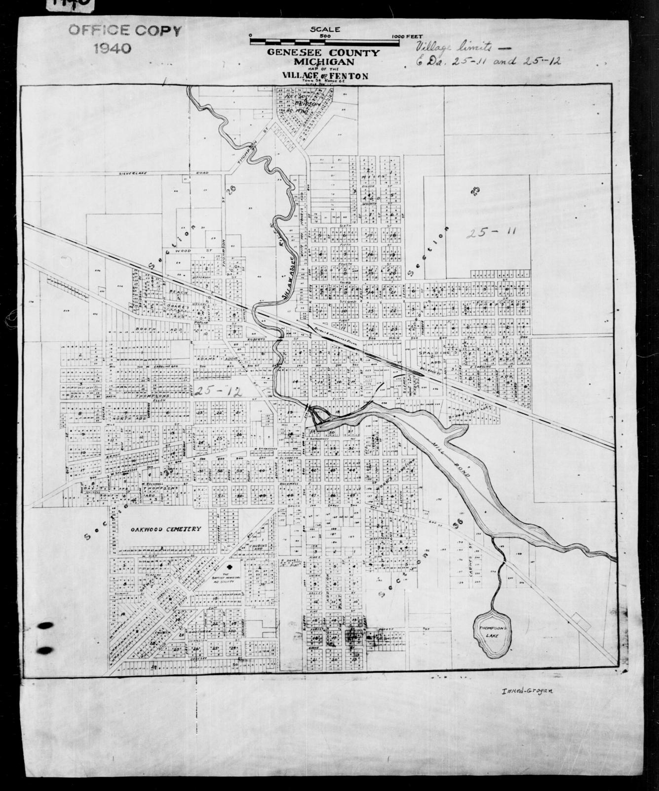 Us 12 Michigan Map.1940 Census Enumeration District Maps Michigan Genesee County