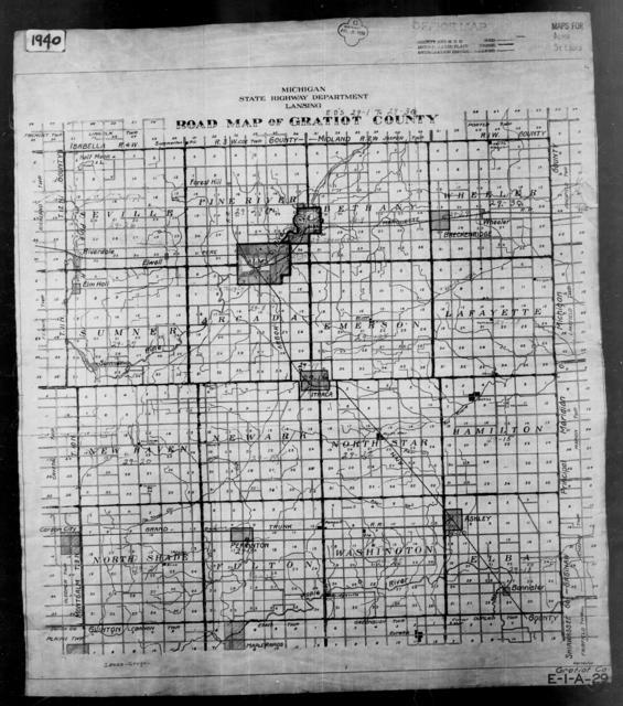1940 Census Enumeration District Maps - Michigan - Gratiot County - ED 29-1 - ED 29-30