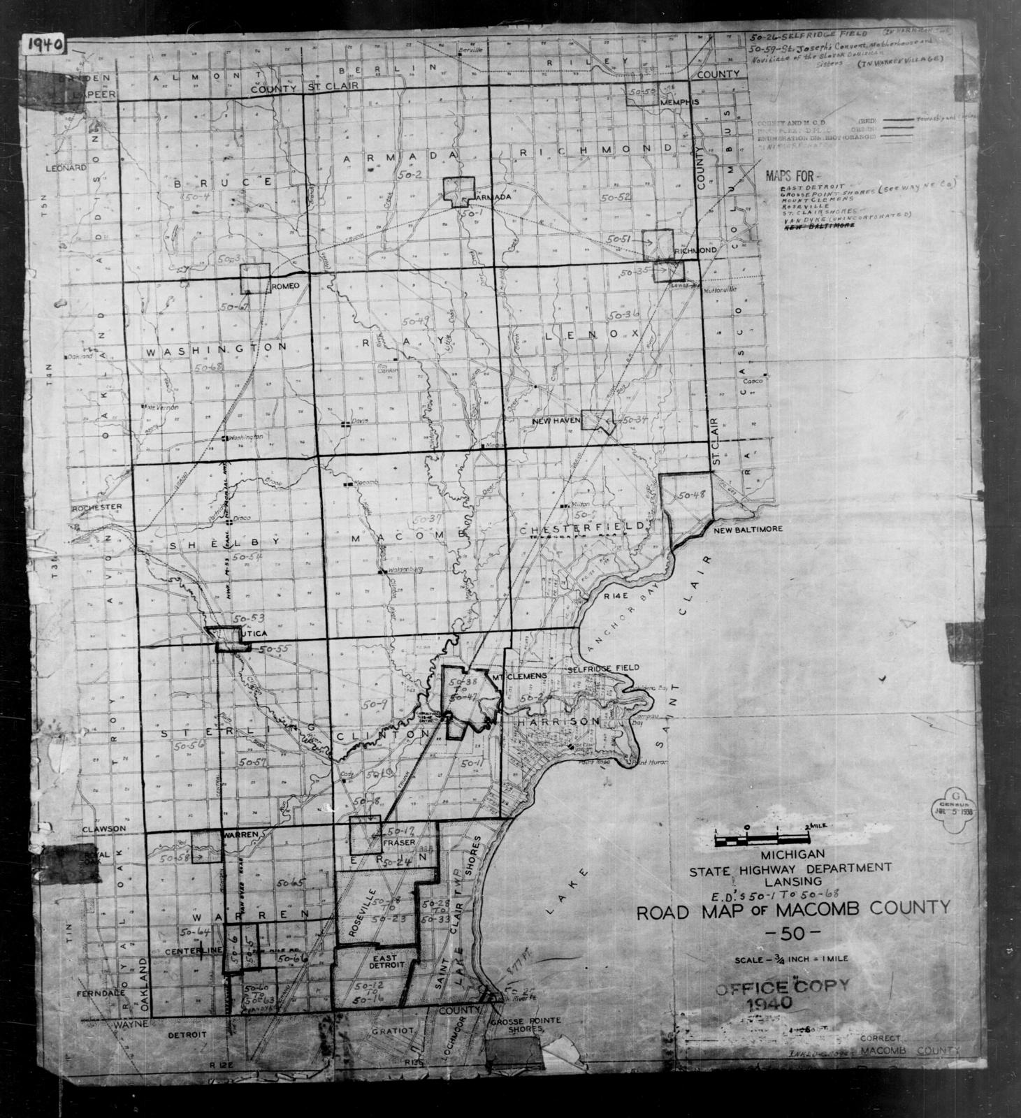 1940 Census Enumeration District Maps - Michigan - Macomb ... on wiu campus map, florida southern college campus map, oakland university mi campus map, western illinois campus map, henry ford community college campus map, mott community college campus map, south davis recreation center map, wayne state university campus map, macomb community college degree, nova cc medical campus map,