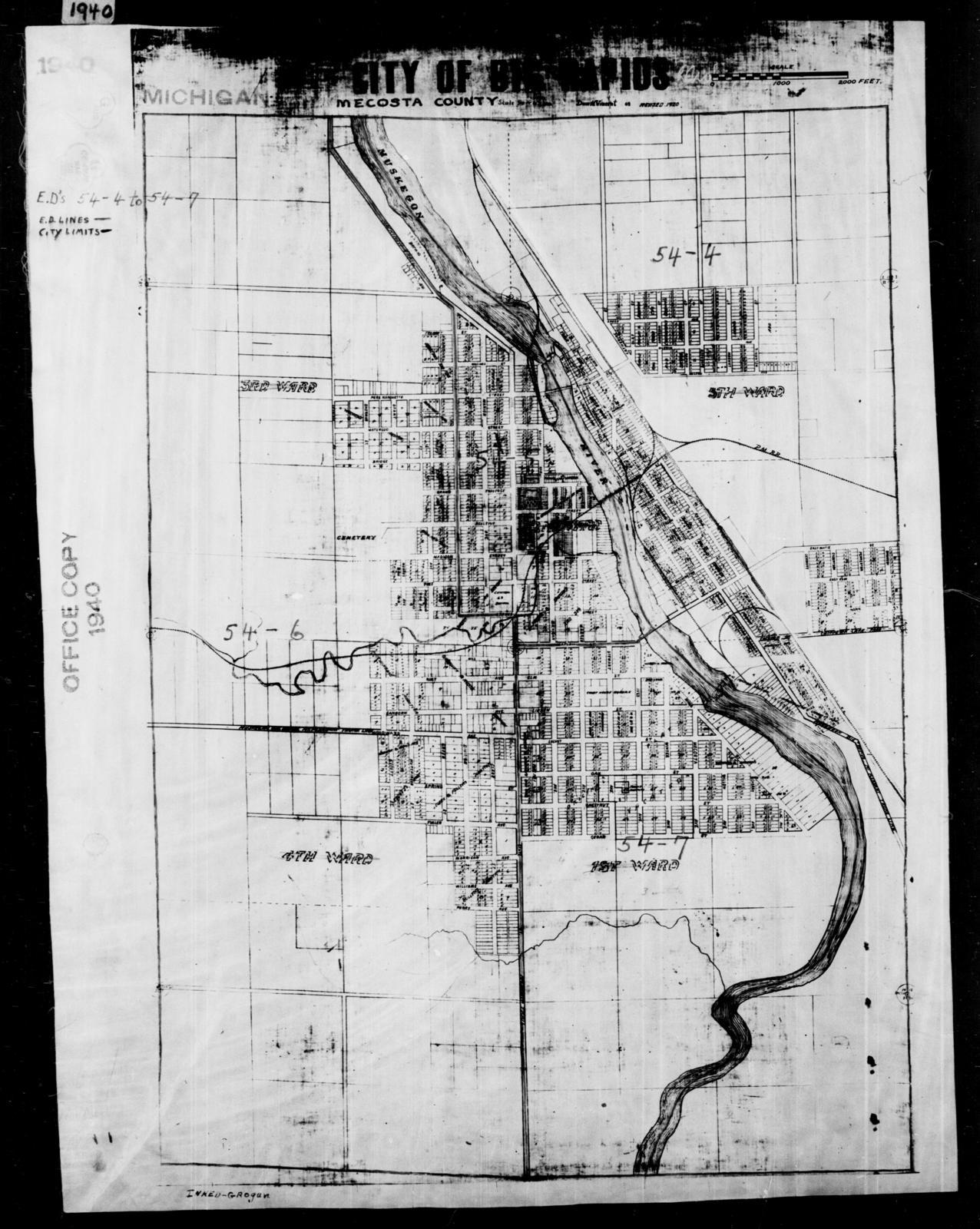 Mecosta Michigan Map.1940 Census Enumeration District Maps Michigan Mecosta County