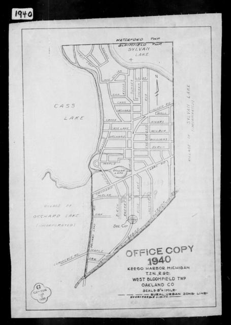 1940 Census Enumeration District Maps - Michigan - Oakland County - Keego Harbor - ED 63-189