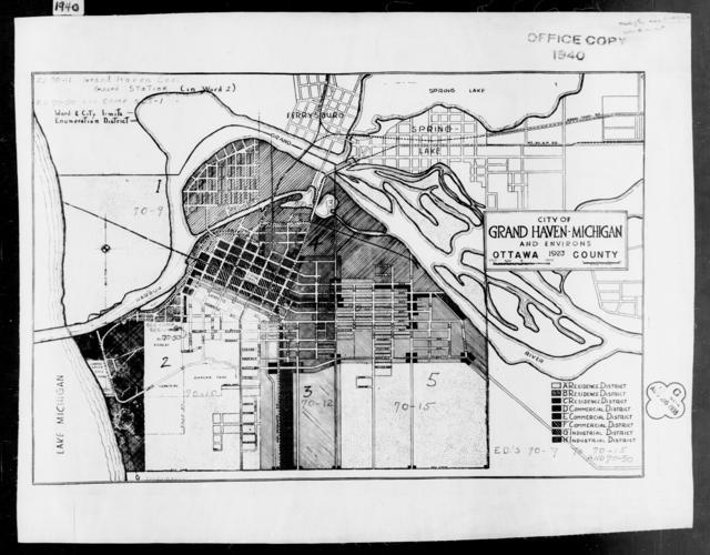 1940 Census Enumeration District Maps - Michigan - Ottawa County - Grand Haven - ED 70-9 - ED 70-50