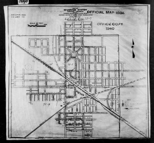 1940 Census Enumeration District Maps - Michigan - Shiawassee County - Durand - ED 78-8, ED 78-9