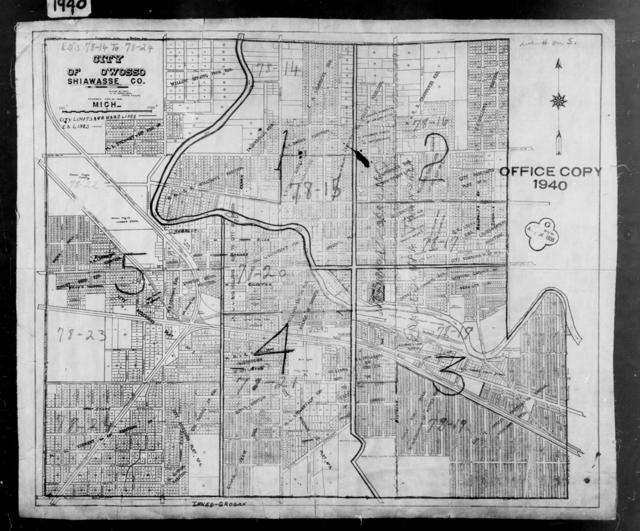 1940 Census Enumeration District Maps - Michigan - Shiawassee County - Owosso - ED 78-14 - ED 78-24
