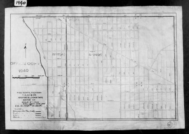 1940 Census Enumeration District Maps - Michigan - Wayne County - Five Points - ED 82-175, ED 82-202
