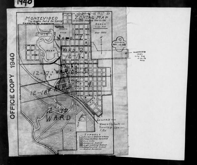 1940 Census Enumeration District Maps - Minnesota - Chippewa County - Montevideo - ED 12-15, ED 12-16, ED 12-17, ED 12-18, ED 12-19