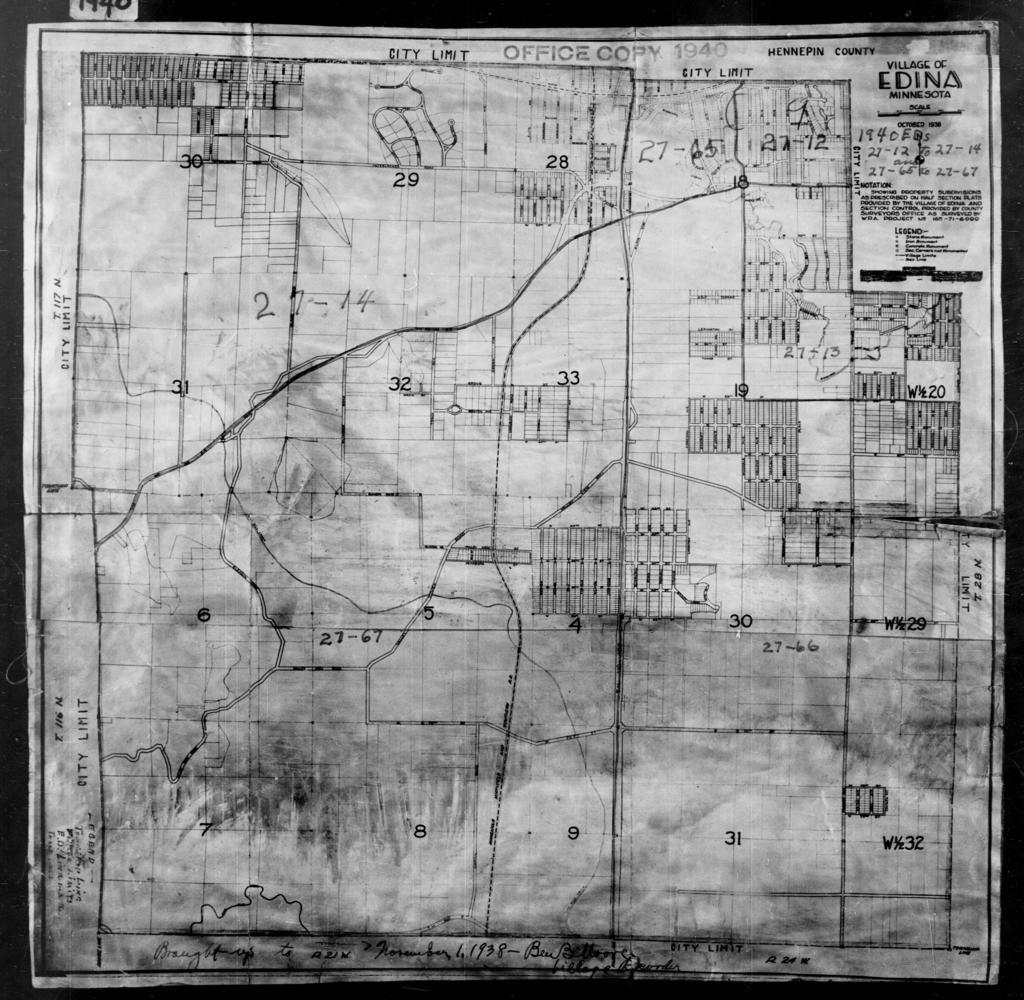 1940 Census Enumeration District Maps - Minnesota - Hennepin County - Edina - ED 27-12, ED 27-13, ED 27-14