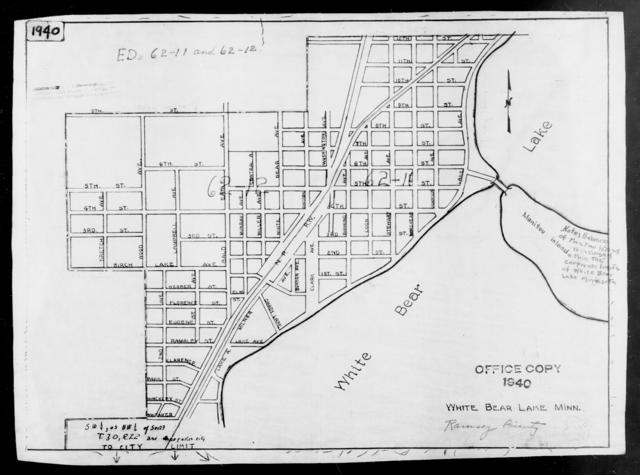 1940 Census Enumeration District Maps - Minnesota - Ramsey County - White Bear Lake - ED 62-11, ED 62-12