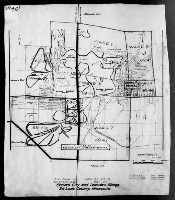 1940 Census Enumeration District Maps - Minnesota - St. Louis County - Eveleth - ED 69-41 - ED 69-238