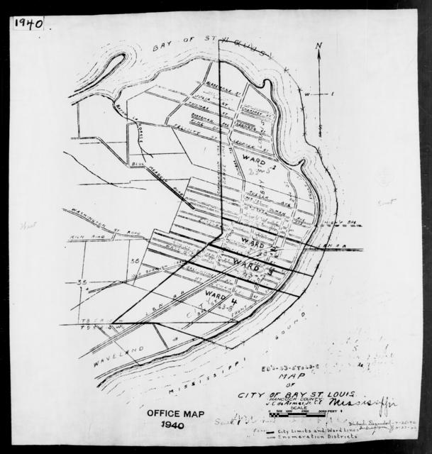 1940 Census Enumeration District Maps - Mississippi - Hancock County - Bay St. Louis - ED 23-5, ED 23-6, ED 23-7, ED 23-8
