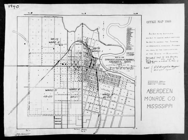 1940 Census Enumeration District Maps - Mississippi - Monroe County - Aberdeen - ED 48-18, ED 48-19, ED 48-20, ED 48-21, ED 48-22