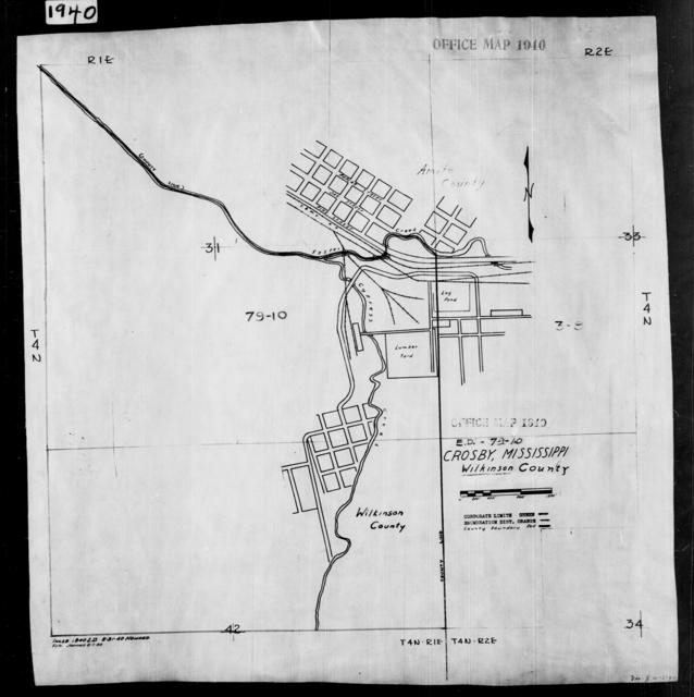 1940 Census Enumeration District Maps - Mississippi - Wilkinson County - Crosby - ED 79-10