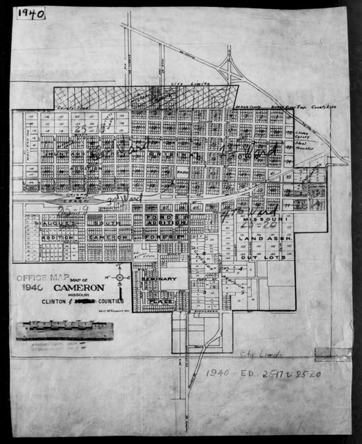 1940 Census Enumeration District Maps - Missouri - Clinton County - Cameron - ED 25-17, ED 25-18, ED 25-19, ED 25-20