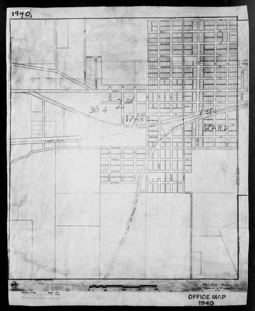1940 Census Enumeration District Maps - Missouri - Franklin County - Pacific - ED 36-4