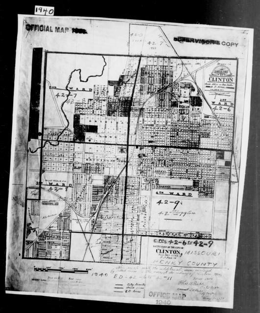 1940 Census Enumeration District Maps - Missouri - Henry County - Clinton - ED 42-6, ED 42-7, ED 42-8, ED 42-9, ED 42-10, ED 42-11