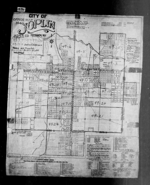1940 Census Enumeration District Maps - Missouri - Jasper County - Joplin - ED 49-3A - ED 49-26