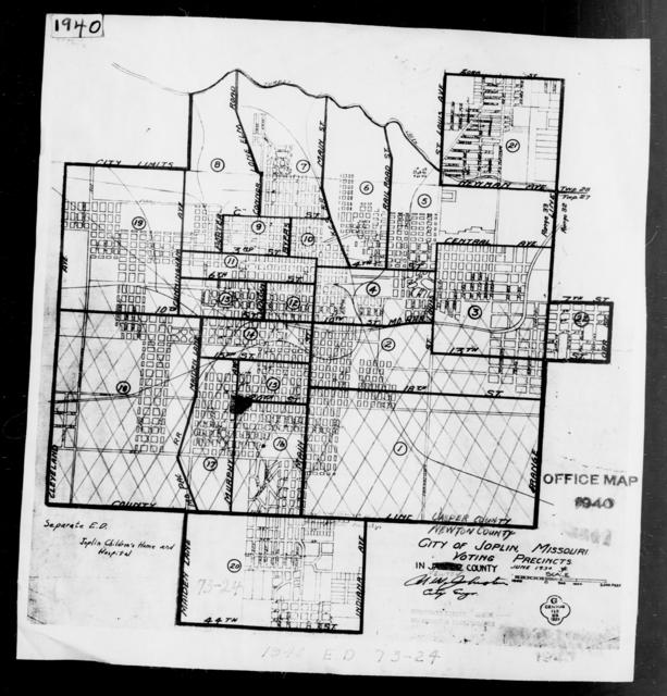 1940 Census Enumeration District Maps - Missouri - Newton County - Joplin - ED 73-24